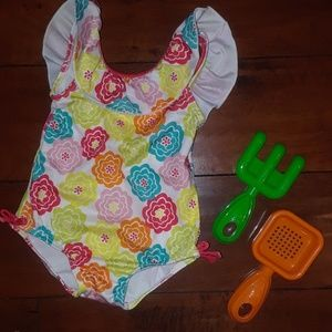 Gymboree girls Ruffle 1pc Swim Bathing Suit 6-12m